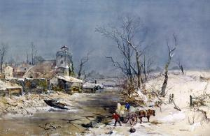 Cutting Ice for the Icehouse by Charles Brooke Branwhite