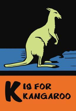 K is for Kangaroo by Charles Buckles Falls