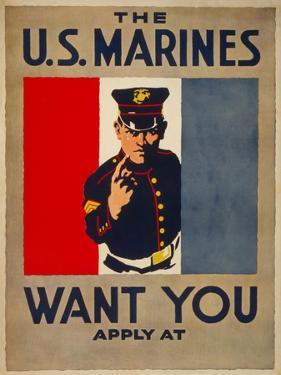 The U.S. Marines Want You, circa 1917 by Charles Buckles Falls