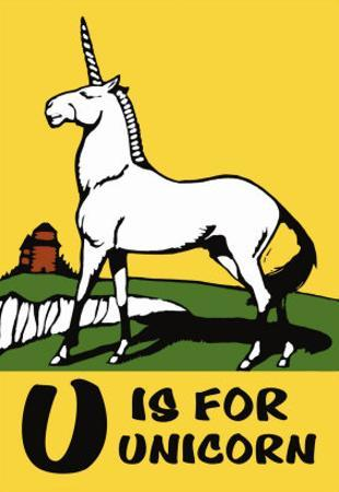 U is for Unicorn by Charles Buckles Falls