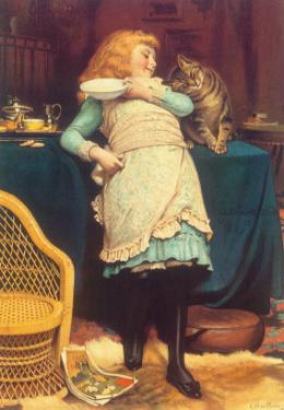 Coaxing Is Better Than Teasing, 1883 by Charles Burton Barber