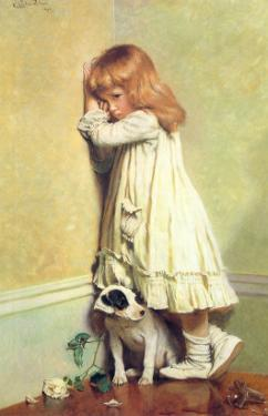 In Disgrace, 1885 by Charles Burton Barber