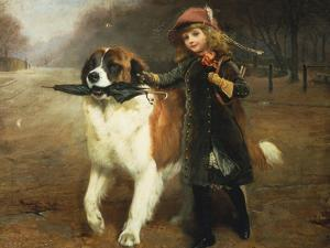 Off to School, 1883 by Charles Burton Barber