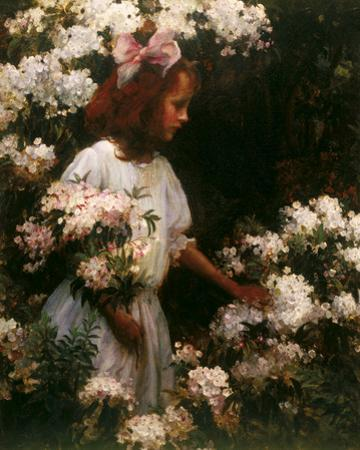 Garden Walk by Charles C Curran
