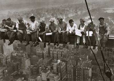 Lunch Atop a Skyscraper, c.1932 (detail) by Charles C. Ebbets