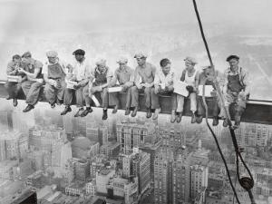 Lunch Atop Skyscraper Rockefeller Center Photo by Charles C. Ebbets