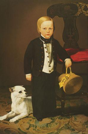 Boy with Dog by Charles Christian Nahl