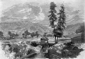 Sutter's Mill, Where Marshall Discovered Gold Engraving by Charles Christian Nahl