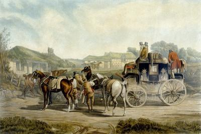 Changing Horses, from 'Fores Coaching Recollections', Engraved by John Harris