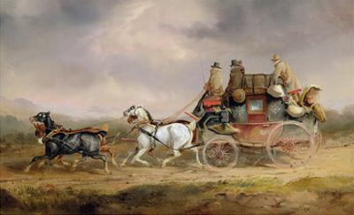 Mail Coaches on the Road: the Louth-London Royal Mail Progressing at Speed
