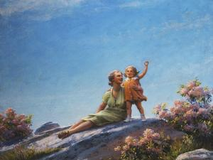 A Happy Moment, 1919 by Charles Courtney Curran