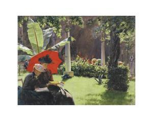 Afternoon in the Cluny Garden, Paris, 1889 by Charles Courtney Curran