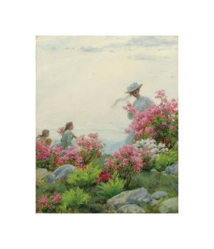 Among the Wild Azaleas by Charles Courtney Curran