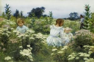Among the Wildflowers by Charles Courtney Curran