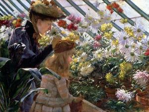Chrysanthemums, 1890 by Charles Courtney Curran