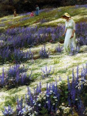 On a Hill, 1914 by Charles Courtney Curran