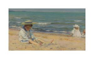 On The Beach, Lake Erie by Charles Courtney Curran