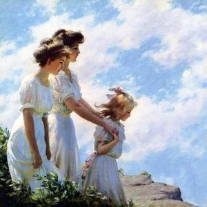 On the Cliff, 1910 by Charles Courtney Curran