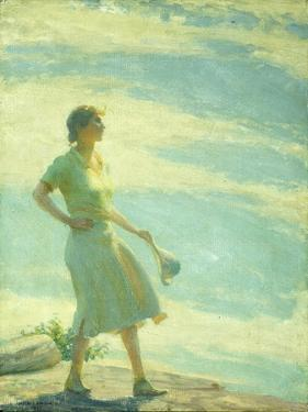 Walking on the Cliff, 1935 by Charles Courtney Curran