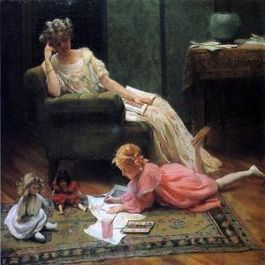 Watching the Child Play, 1909 by Charles Courtney Curran