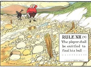 """Rule XII (V): the Player Shall be Entitled to Find His Ball..., from """"Rules of Golf"""" by Charles Crombie"""