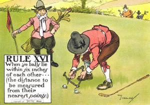 "Rule XVI: When Ye Balls Lie Within Six Inches of Each Other..., from ""Rules of Golf"" by Charles Crombie"