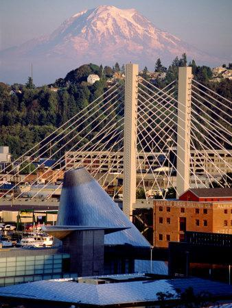 Downtown and Mt. Rainier, Tacoma, Washington
