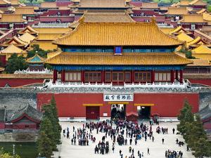 Forbidden City North Gate, Gate of Divine Might, Beijing, China by Charles Crust