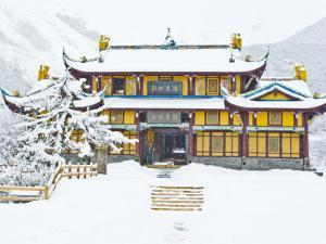 Snow Falls on Dragon King, Huanglong Temple, Huanglong National Park, Sichuan Province, China by Charles Crust
