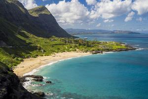 USA, Hawaii, East Oahu. Makapuu Beach by Charles Crust