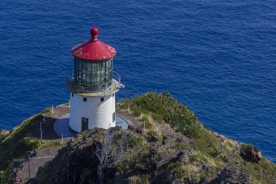 USA, Hawaii, Oahu, Waimanalo. U.S. Coast Guard Makapuu Point Light