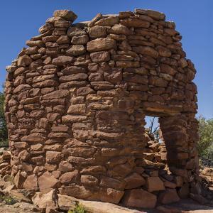 USA, Utah, Blanding. Tower Ruin at Mule Canyon Towers Ruins by Charles Crust