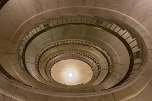 USA, Washington Dc. Supreme Court Building, Spiral Staircases by Charles Crust