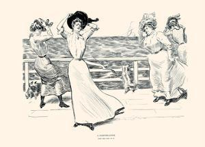 A Northeaster by Charles Dana Gibson