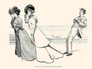 Accident to a Young Man with a Weak Heart by Charles Dana Gibson