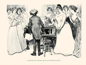 Is This Why the Average Husband and Brother Stay Away? by Charles Dana Gibson