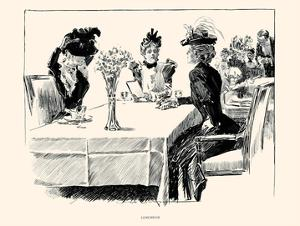 Luncheon by Charles Dana Gibson