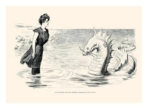 No Wonder the Sea Serpent Frequents Our Coast by Charles Dana Gibson