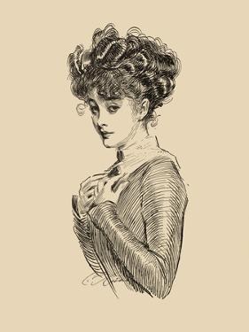 Not Worrying About Her Rights by Charles Dana Gibson