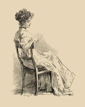 The Wall Flower by Charles Dana Gibson