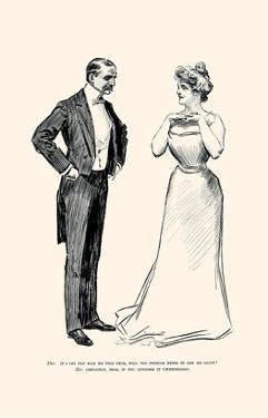 Unnecessary Kissing by Charles Dana Gibson
