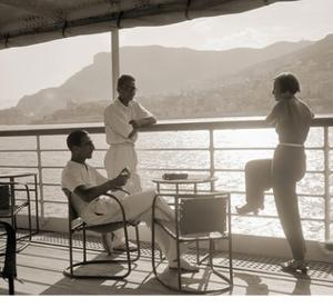 Jeunes Gens Sur le Pont D'Un Bateau Dans la Baie de Monte Carlo, 1920 by Charles Delius