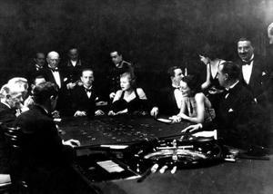 La Roulette a L'Interieur D'Un Casino a Monte Carlo, 1934 by Charles Delius