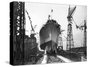"Lancement du Navire croiseur ""Zara"",1930 by Charles Delius"