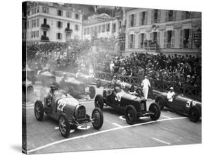 Le depart du Grand Prix de Monaco 1932 by Charles Delius