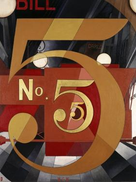 I Saw the Figure 5 in Gold by Charles Demuth