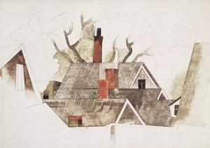 Red Chimneys by Charles Demuth