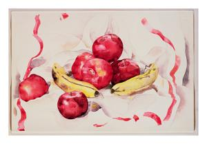 Still Life with Apples and Bananas, C.1925 (W/C and Graphite Pencil on Wove Paper) by Charles Demuth