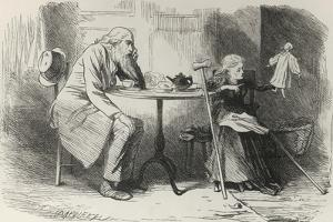 Miss Wren Outlining His Idea, Illustration from Our Mutual Friend by Charles Dickens