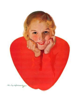 """Valentine Girl,""February 13, 1932"
